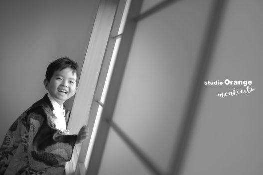 伊丹市 七五三 5歳 男の子 黒の着物