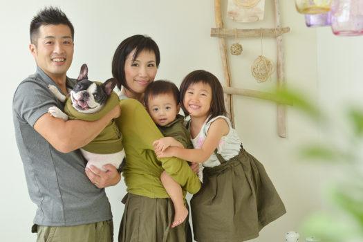 ペットフォト 家族写真 フレンチブルドッグ