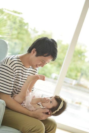 誕生日撮影 宝塚市 父と子