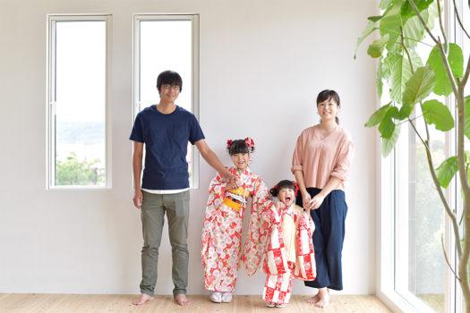 七五三 宝塚市 おしゃれな家族写真