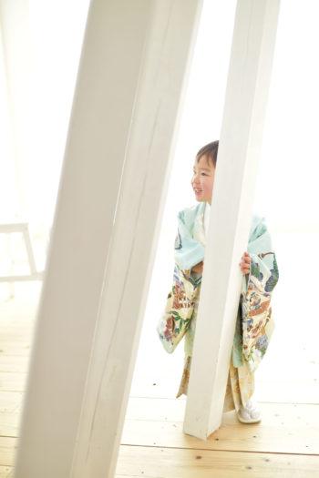 宝塚市 七五三 3歳男の子 水色の着物