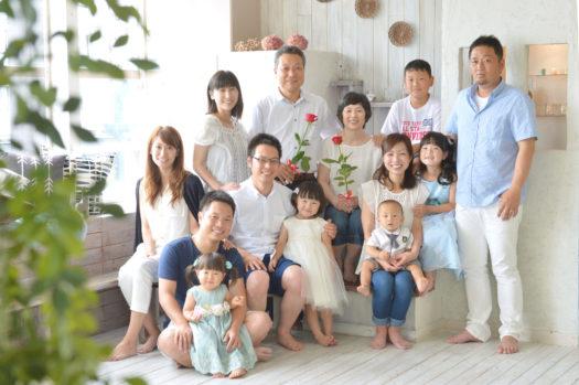 還暦撮影 長寿の祝い 家族写真