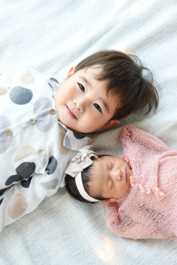 池田市 新生児フォト 兄弟写真