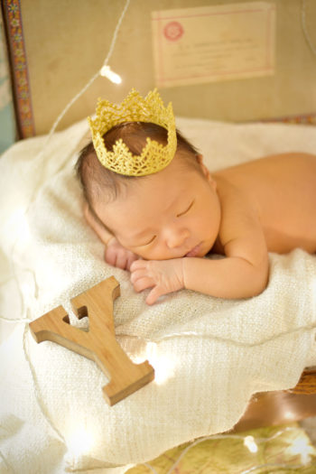 尼崎市 新生児フォト 王冠