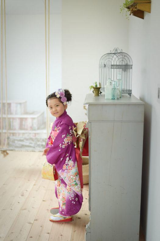 七五三 大阪市 7才女の子 前撮り