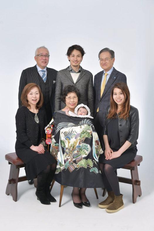 宝塚市 お宮参り 祖父母 家族写真
