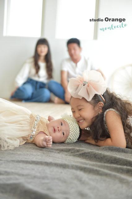 七五三前撮り ドレス 自然な家族写真 宝塚市