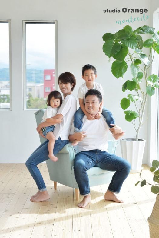 七五三前撮り 池田市 自然な家族写真