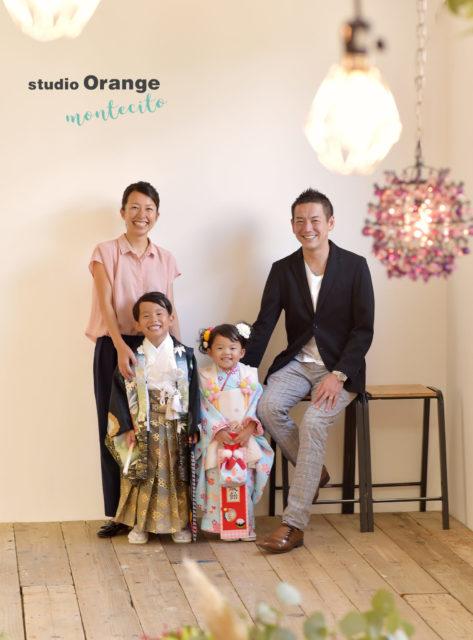 七五三 豊中市 家族写真