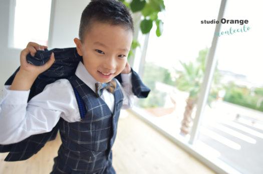 七五三 前撮り 男の子 自然な笑顔