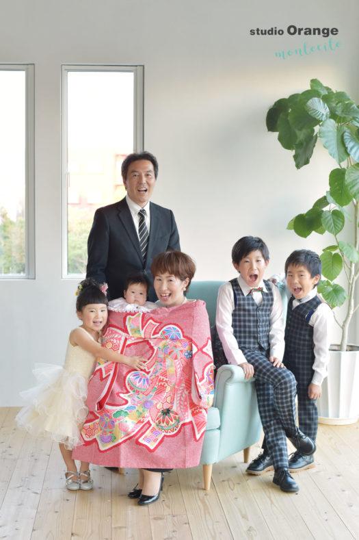 川西 お宮参り 家族写真