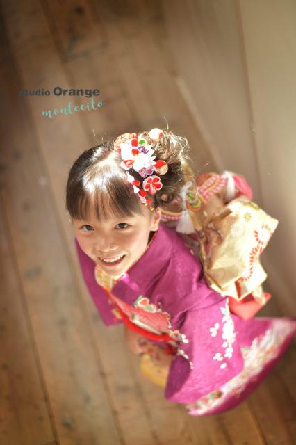 伊丹市 七五三 7歳 紫の着物