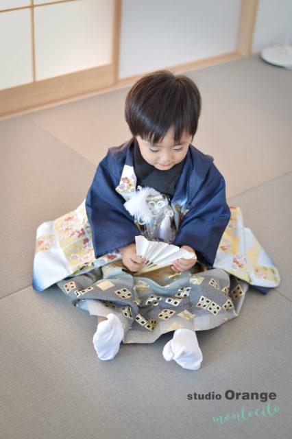 川西 七五三 3歳男の子 和室