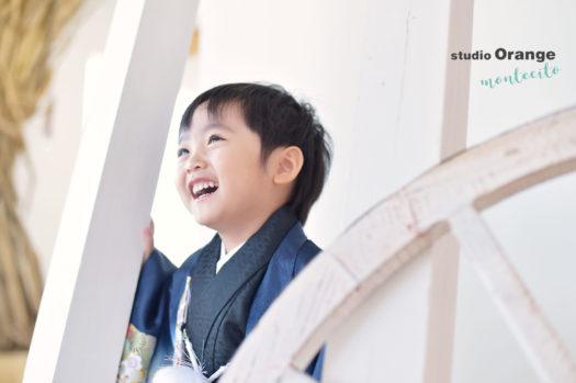 伊丹 七五三 3歳男の子 青の着物