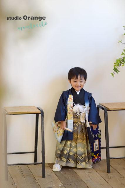 宝塚 七五三 3歳男の子 青の着物