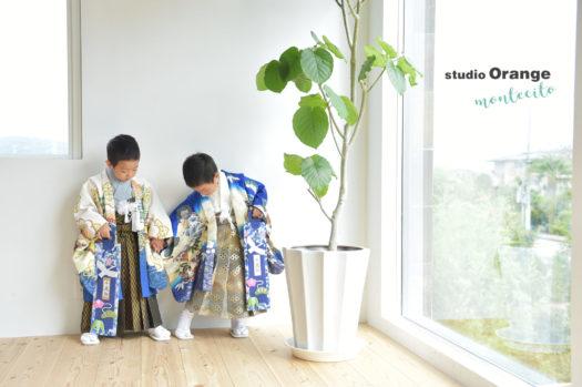 神戸 七五三 5歳 双子