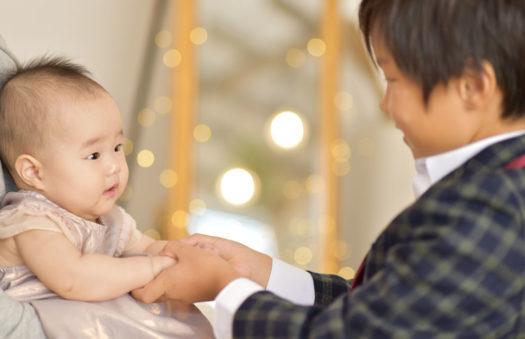 宝塚市 お宮参り 兄弟撮影