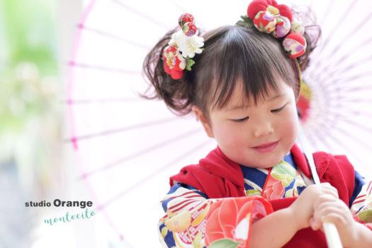 宝塚市 七五三前撮り 3歳 モダン着物