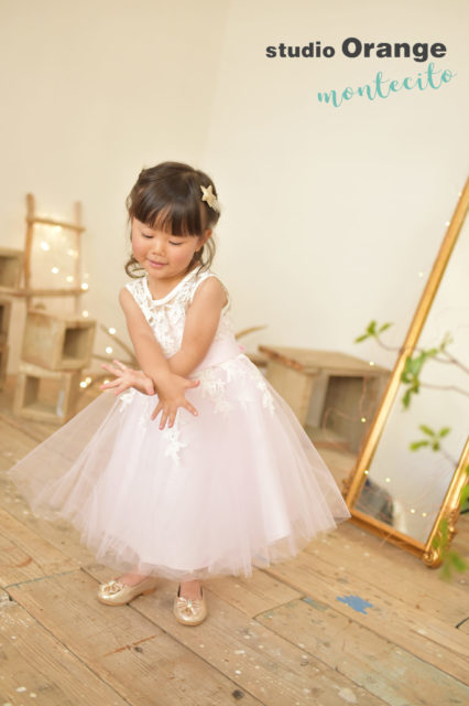 宝塚市 七五三 3歳七五三 ピンクのドレス