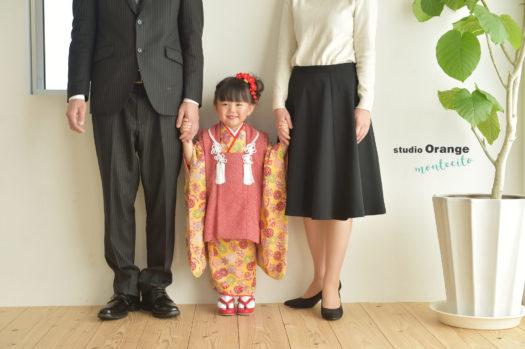七五三 3歳女の子 オシャレ 着物