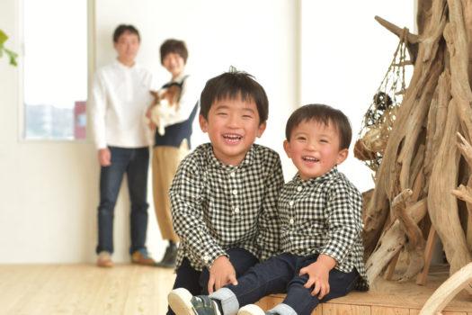 家族写真 子ども 宝塚 ペット