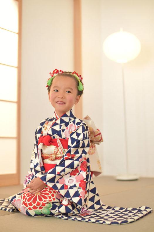 宝塚市 七五三 7歳 日本髪