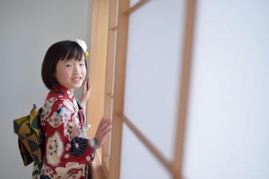 宝塚市 七五三 7歳 モダン着物