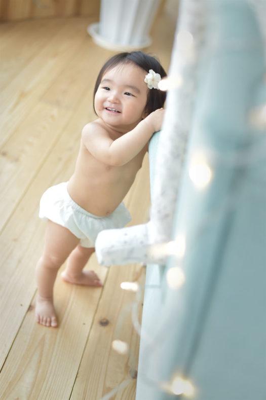 宝塚市 バースデーフォト 1歳 はだかんぼう