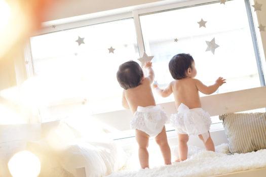 川西市 双子 お誕生日 バースデーフォト 女の子
