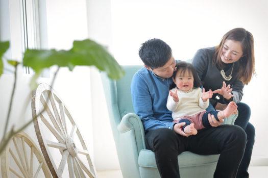 宝塚市 1歳バースデー 女の子 家族写真