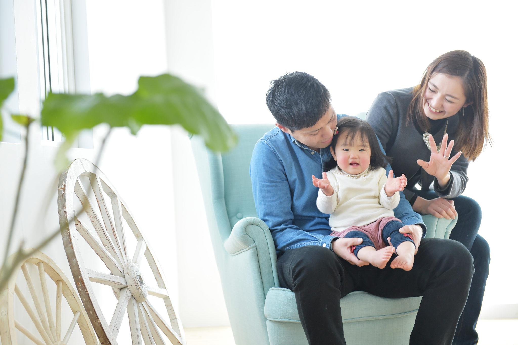 宝塚市 1歳 バースデーフォト 家族写真