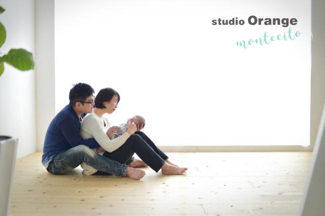 宝塚市 ハーフバースデー 家族写真 自然な雰囲気