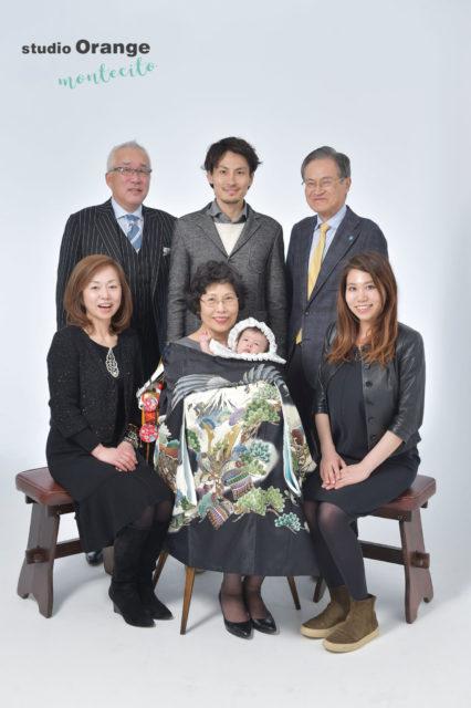 川西市 お宮参り 中山寺 家族写真 祖父母
