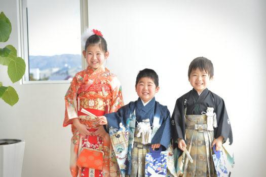 宝塚市 七五三 7歳 5歳 3歳 兄弟写真