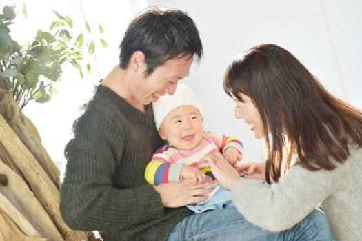 宝塚市 バースデーフォト 1歳 家族写真