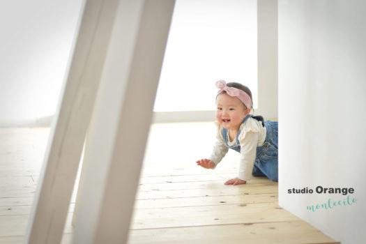 伊丹市 バースデーフォト 1歳 女の子 裸ん坊