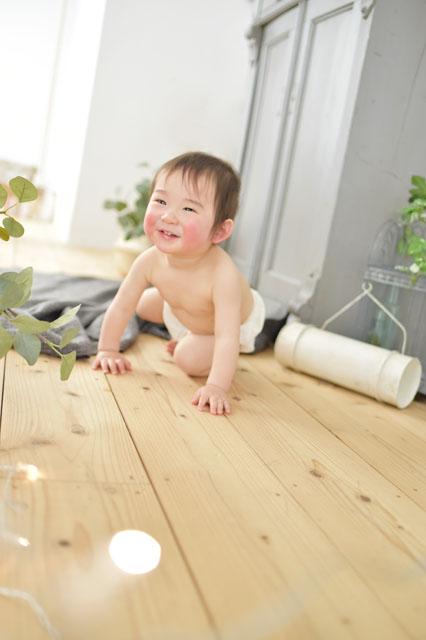 宝塚市 バースデーフォト 1歳 裸ん坊