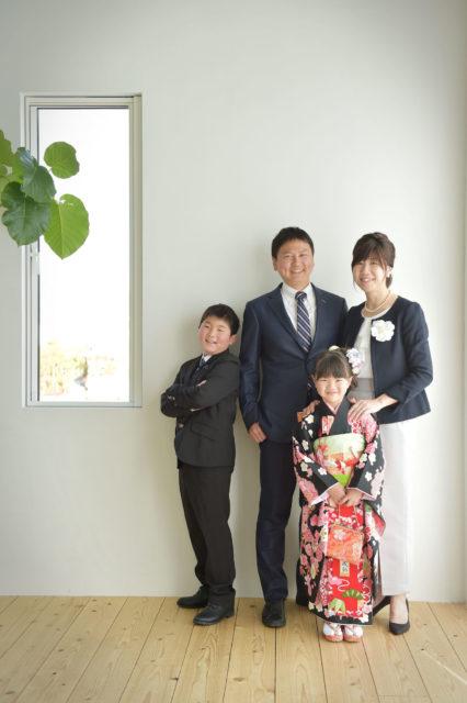 宝塚市 七五三 7歳 黒の着物