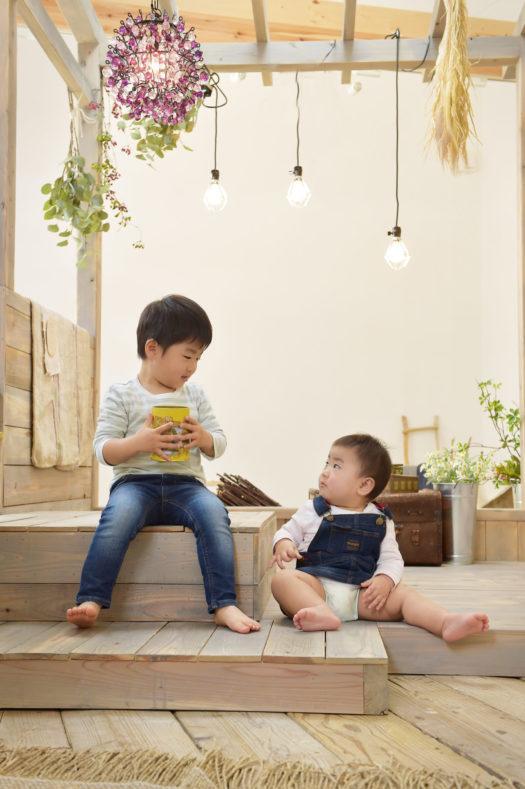 伊丹市 誕生日記念 1歳 兄弟写真