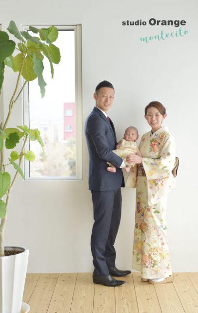 豊中市 お宮参り 家族写真 bonpoint ボンポワン