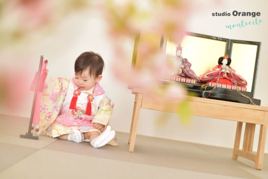 宝塚市 ひな祭り 桃の節句 黄色の着物