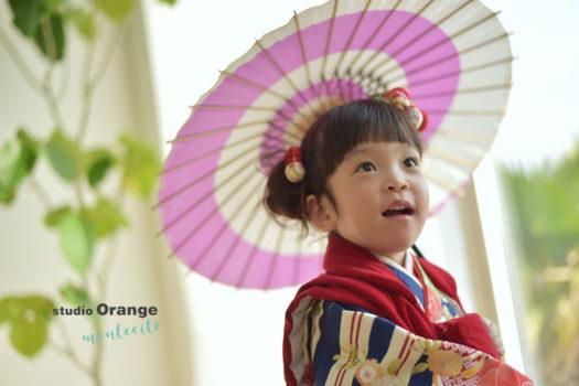 七五三 三歳女の子 着物 被布 宝塚市 川西市