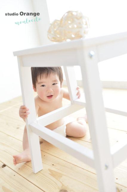 伊丹市 お誕生日 1歳 男の子 はだかんぼ