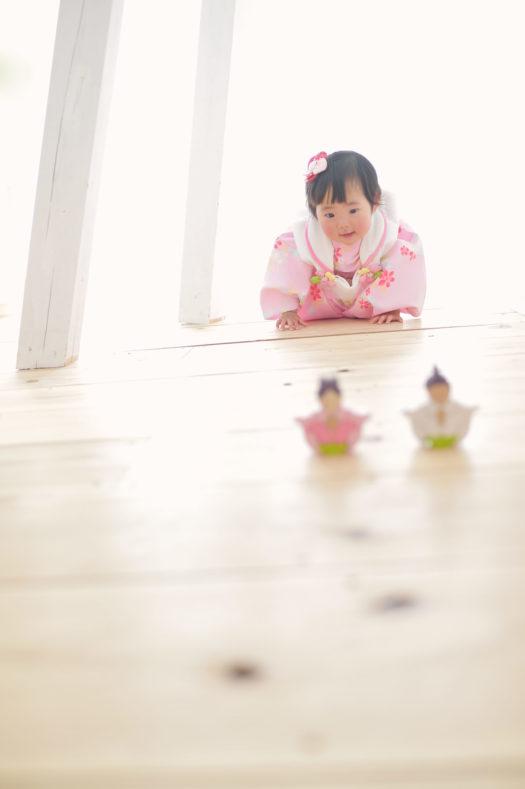 宝塚市 桃の節句 女の子 ピンクの着物