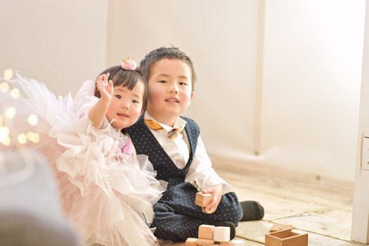 宝塚市 桃の節句 女の子 兄弟写真