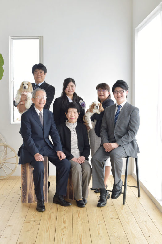 宝塚市 卒業記念 家族写真 犬