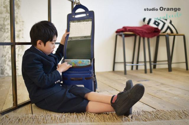 川西市 入学写真 ランドセル 男の子 スーツ