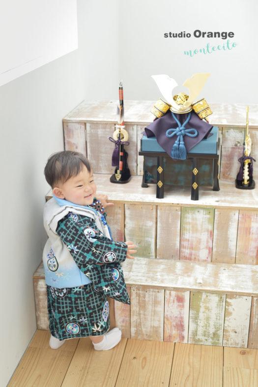 宝塚市 初節句 端午の節句 スタジオ着物