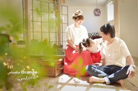 八尾市 七五三 自然な家族写真