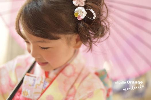 宝塚 七五三 双子 7歳 ピンクの着物